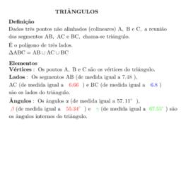 Triângulos-Definição e Elementos