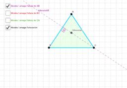 Altures del triangle i Ortocentre