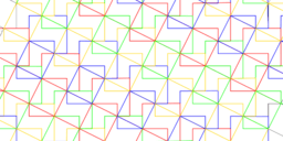 Pythagorean Theorem by Tessellation # 28 Tiling