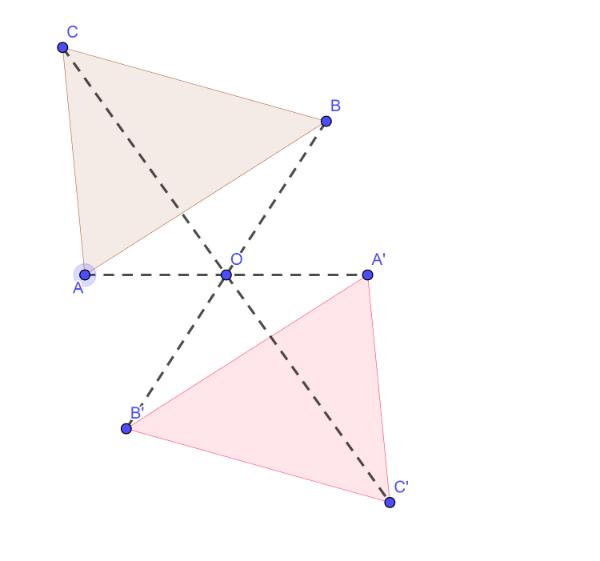 Trougao- centralna simetrija