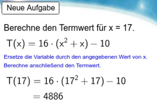 Term - Termwert berechnen (6.5) – GeoGebra