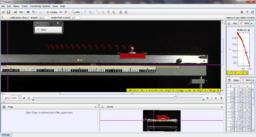 Mozgás nem vízszintes, légpárnás sínen, fúvóka gyorsításával (lassan) – Videoelemzés