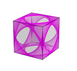 Curve Stitching on a Cube