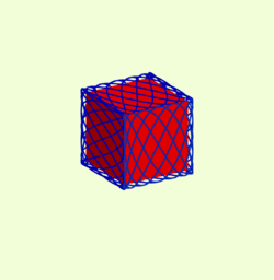 Lissajous figures on the cube