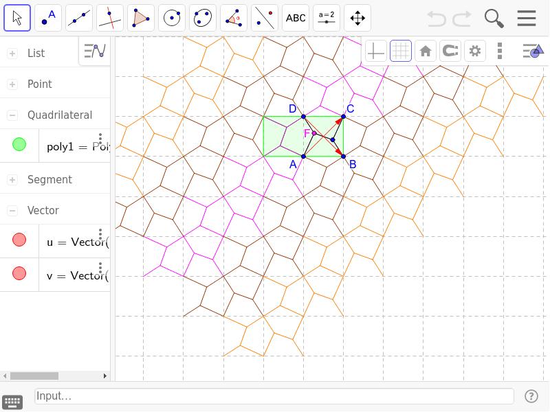 Making Pentagonal Tiles Geogebra