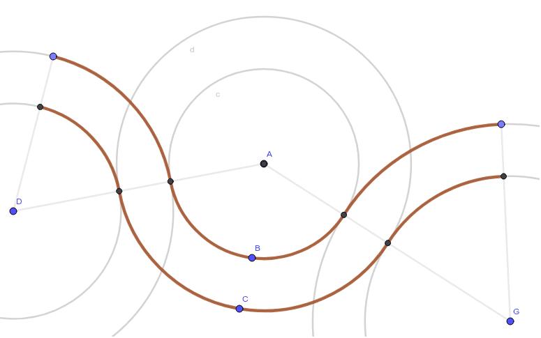 円で作ると、反対側に曲がる時に急にハンドルを切る必要がある。どうしたらいいか? ワークシートを始めるにはEnter キーを押してください。
