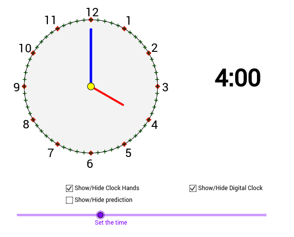Analog Clock – GeoGebra