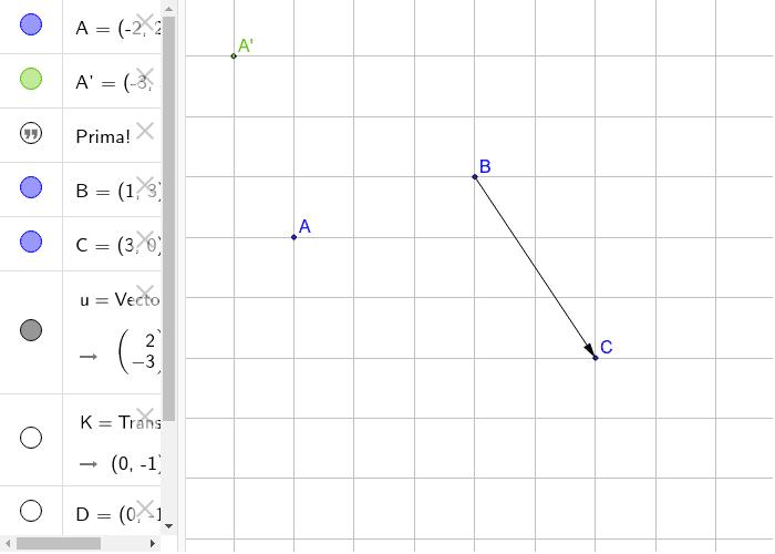 Verschuif punt A' volgens het georiënteerd lijnstuk BC.