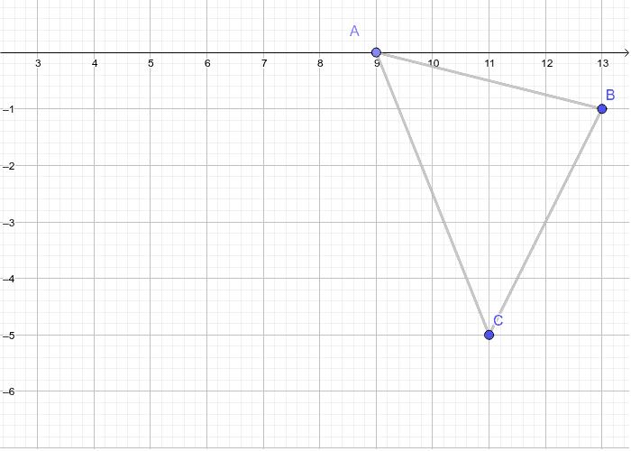 A'(0,9) B'(1,13) C'(5,11) Press Enter to start activity
