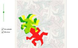 Teselaciones de M.C. Escher: División regular del plano nº 25