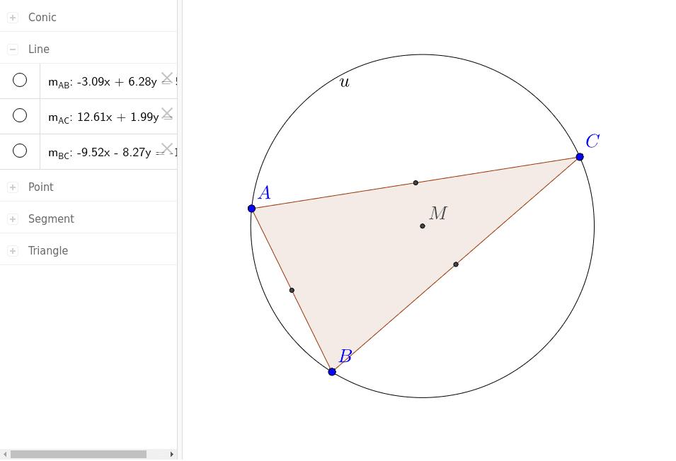 Wie konstruiert man den Punkt M?
