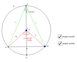 Ángulos en circunferencias