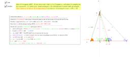 Triangolo, noti b,c,α calcolare altezza, mediana, bisettrice