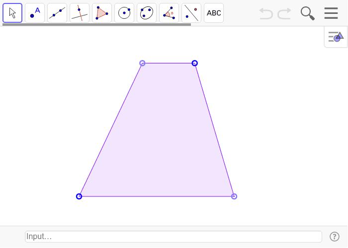 Mesure les côtés, les angles et les diagonales. Press Enter to start activity