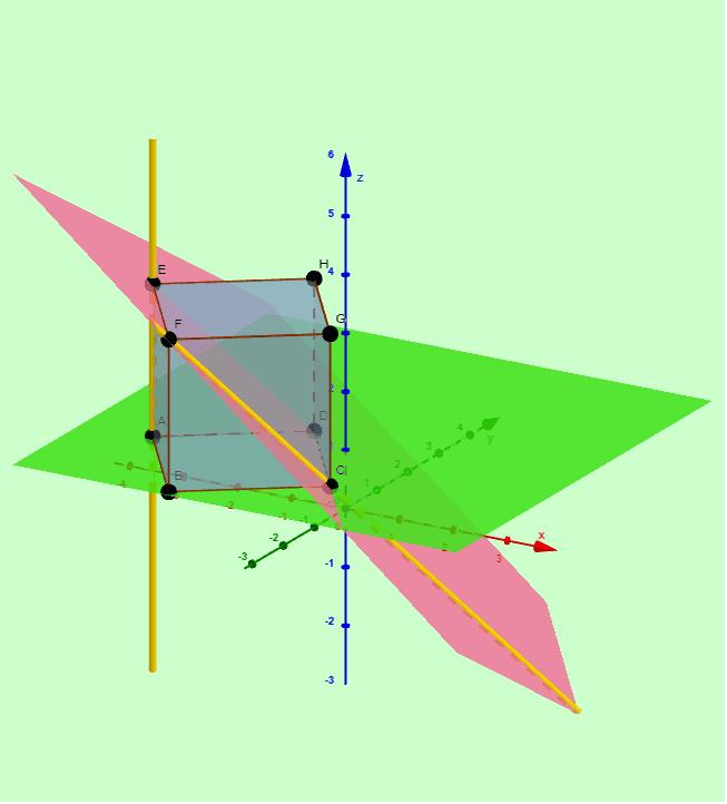 Actividad 2 - Posiciones relativas de recta y plano en el espacio. Presiona Intro para comenzar la actividad