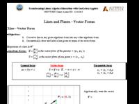 Lines & Planes - Vector Forms.pdf
