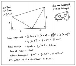 Proofs of Pythagorean Theorem : Student Work