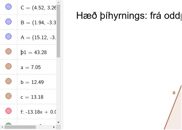 hæðir þríhyrnings Press Enter to start activity