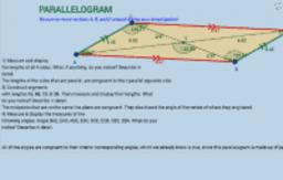 Parallelogram Exploration