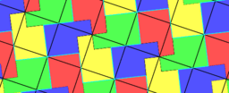 Pythagorean Theorem by Tessellation # 65 Tiling