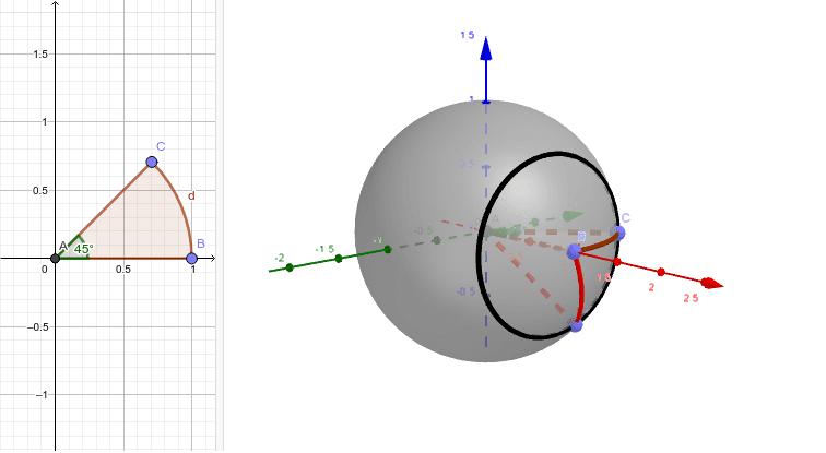 切り取った球の一部の表面積は?