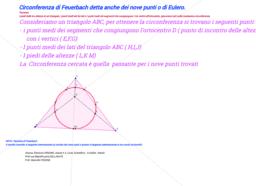 Circonferenza di Feuerbach,  dei nove punti o di Eulero.