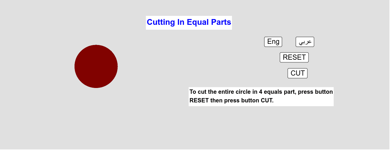 Cutting In Equal Parts        التقطيع إلى أقسام مُتساوية