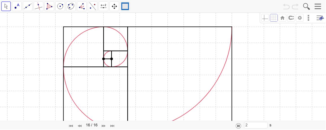 Mueve los puntos y observa como cambia la longitud de los cuadrados. Presiona Intro para comenzar la actividad