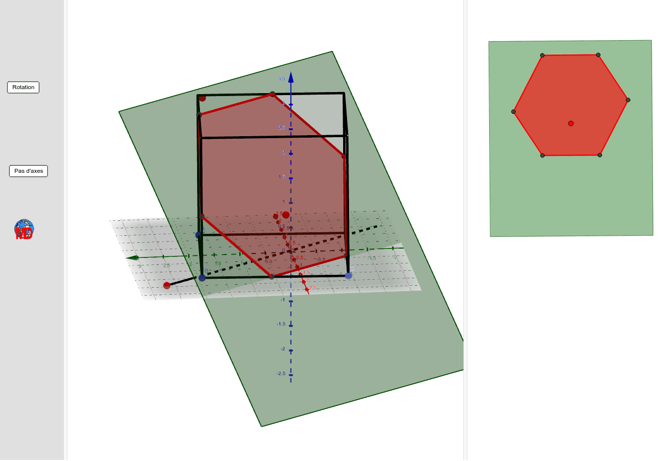 Red dots serve to change the intersection plane Press Enter to start activity