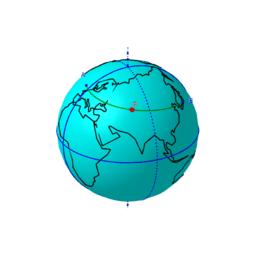 Chemin le plus court sur une planisphère de Mercator