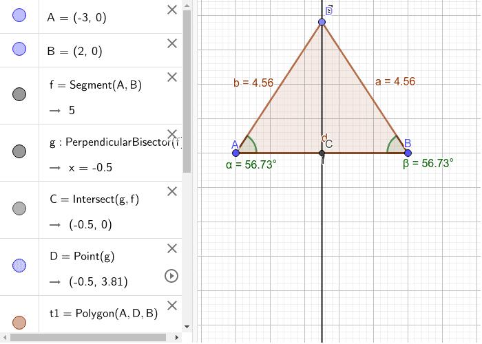 Triangolo isoscile Premi Invio per avviare l'attività