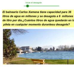 Desagote del balneario Carlos Xamena-Salta