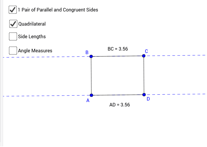 Figure #6: Parallelogram with Opposite sides Congruent