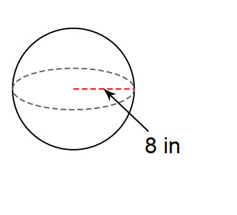 You try #1. Find the surface area of a sphere with a radius of 8 in. Use 3.14 for pi.