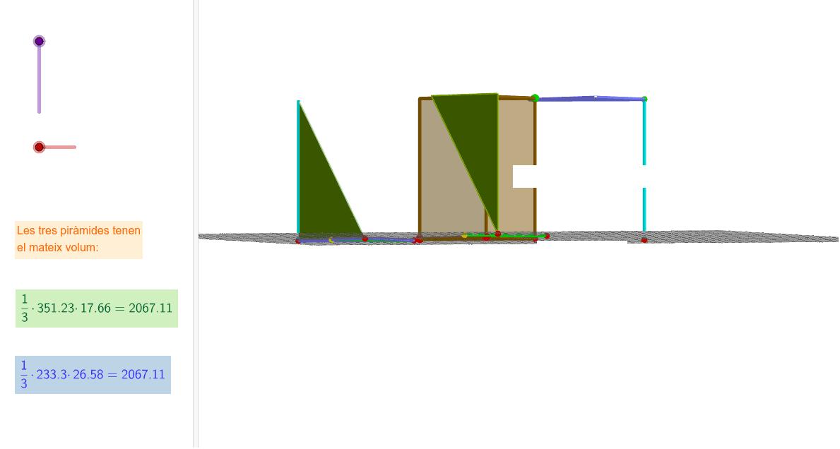 Una propietat dels prismes de base triangular Premeu Enter per iniciar l'activitat