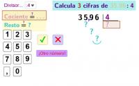 Divide con decimales por una cifra