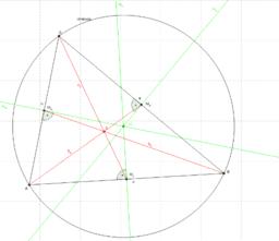 Der Umkreismittelpunkt und der Schwerpunkt