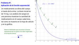 Aplicación de la función exponencial