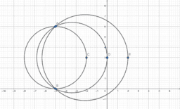 THREE POINTS DETERMINE A CIRCLE