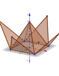 ภาพคลี่พีระมิดฐานสี่เหลี่ยม