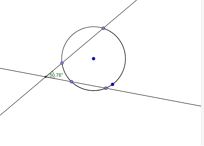secants intersect  and form angle