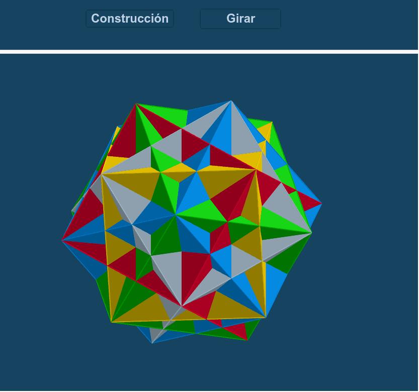 Uno de los cinco poliedros compuestos regulares. Presiona Intro para comenzar la actividad