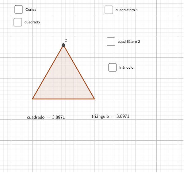 Activa las casillas de control y los deslizadores para cuadrar el triángulo Presiona Intro para comenzar la actividad