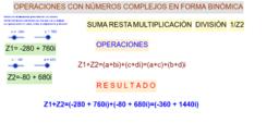 Operaciones con números complejos en forma binómica