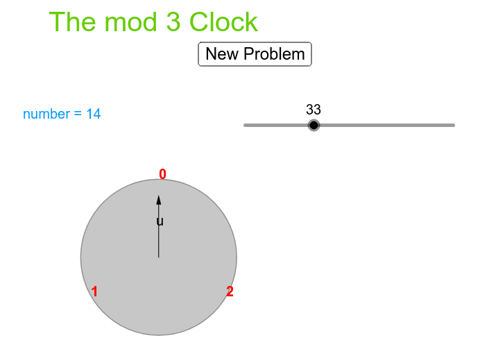 The mod 3 clock