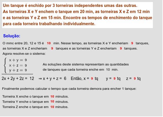 Os números coloridos podem ser alterados, clicando-se neles.
