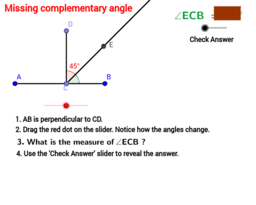 Missing complementary angle