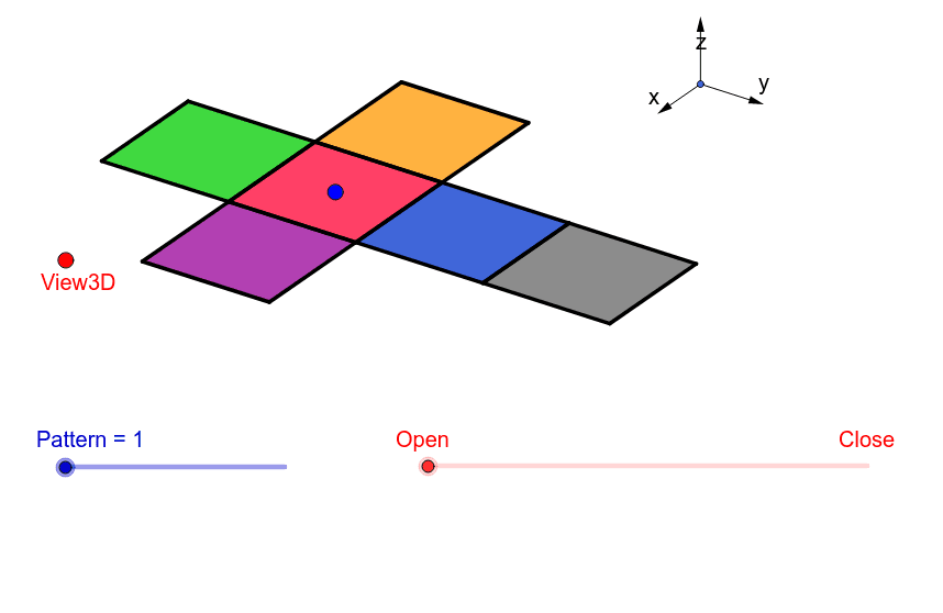 Nets of a cube Press Enter to start activity