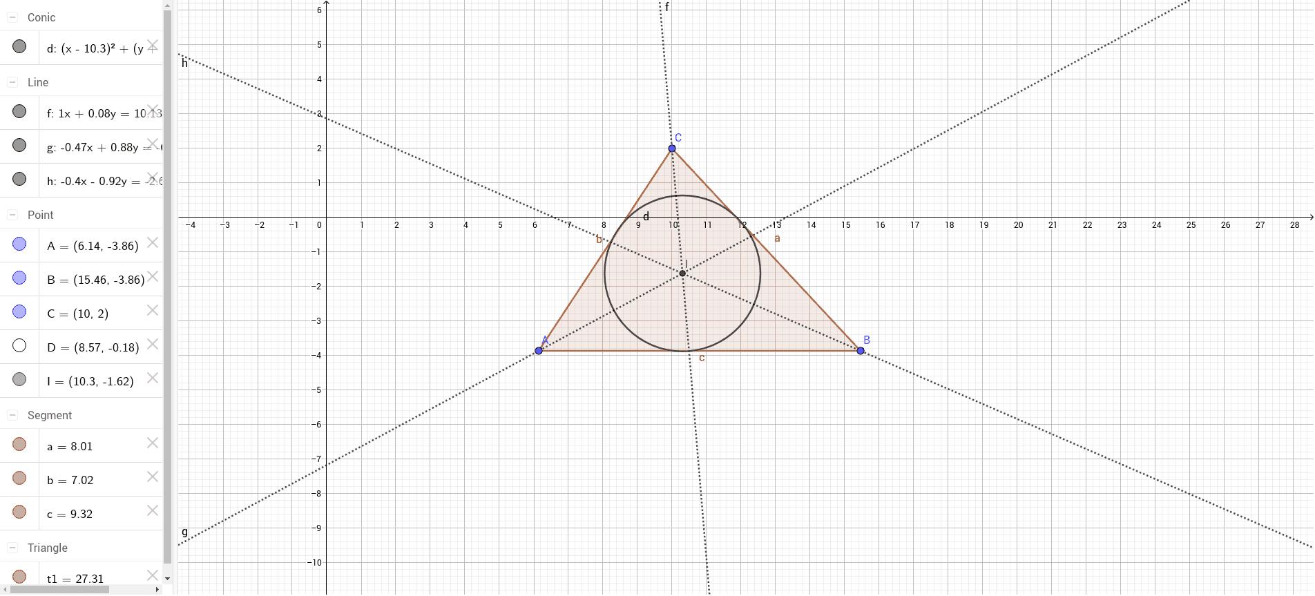 Incentro e Circunferencia Inscrita