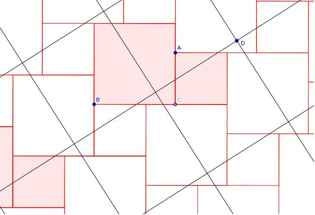 Dをつまんで動かすと正方形の枠が動きます。
